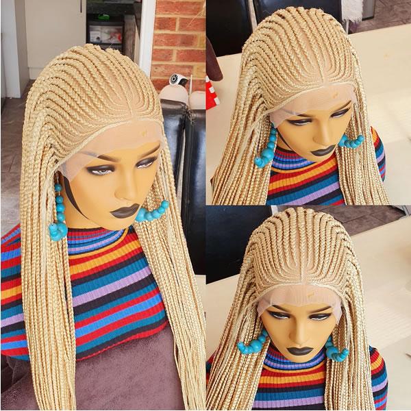 Simi ket Cornrow braided wig. Full frontal