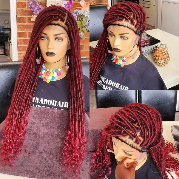 Olax Faux Locs, braided wig