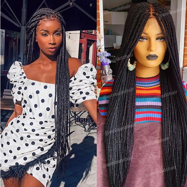 Idi Box braided wig, full frontal