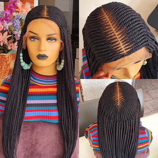 Moyo Cornrow, braided wig, full lace, 35inches