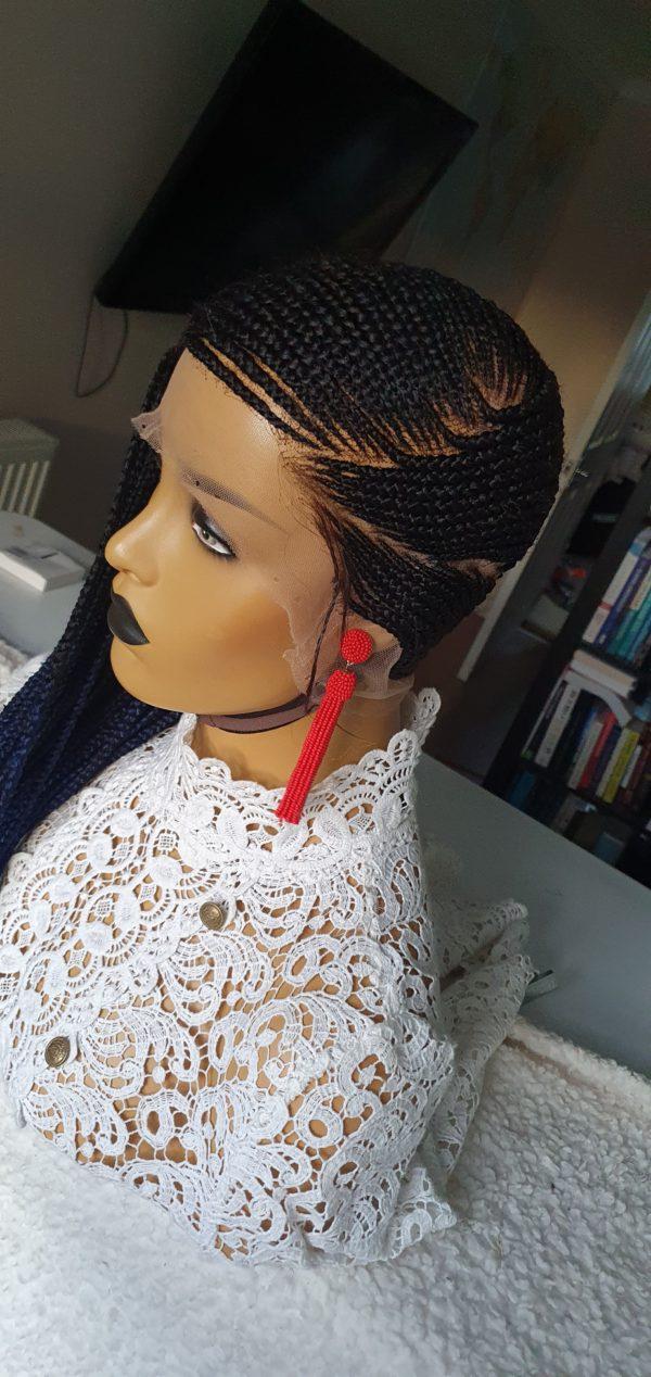 Bisi Lemonade Cornrow Ombre Blue Braided Wigs Store Uk