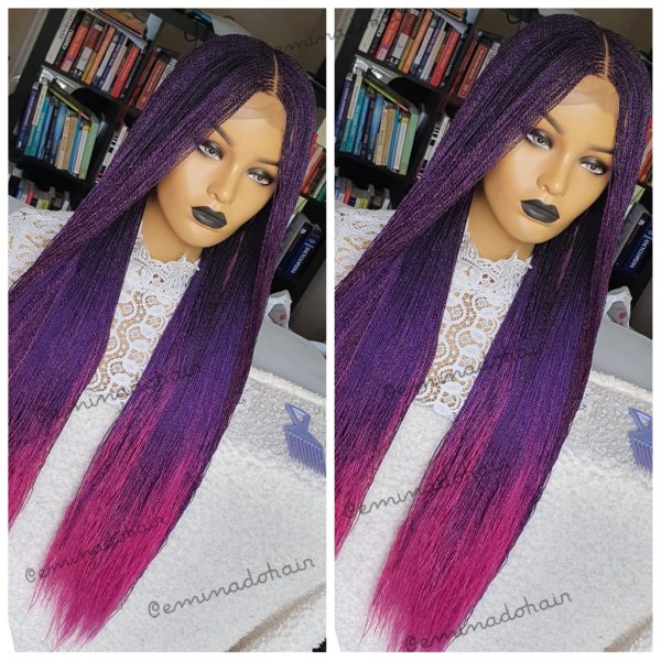 Clara ombre Twists (purple, Pink, Black mix)