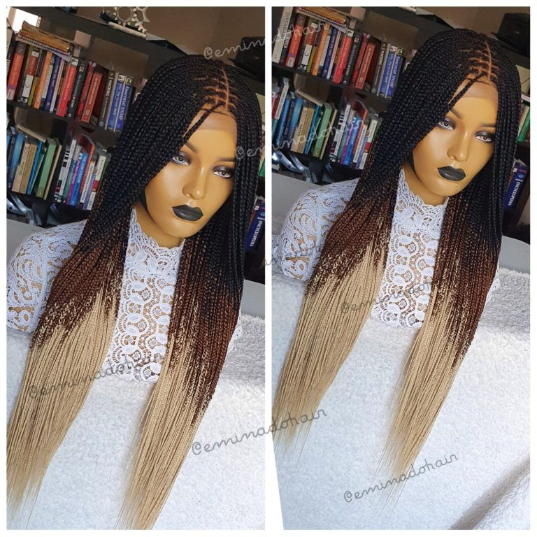 Knotless braids, Closure(Ombre Mix)
