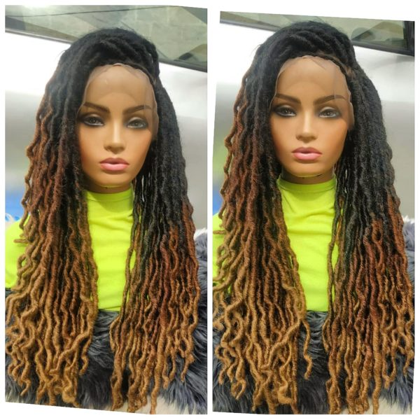 Gypsy black dreads, braided wig, 20inches