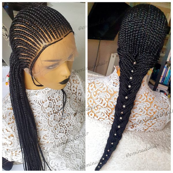 To the Back, Small Cornrow Wig