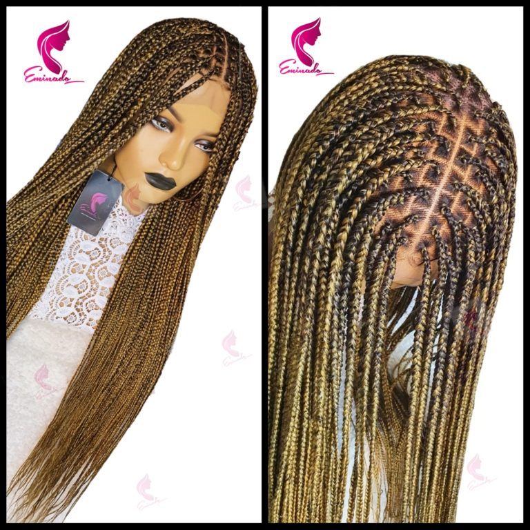 Knotless Full Frontal Braided Wig, colour 144/33 mix