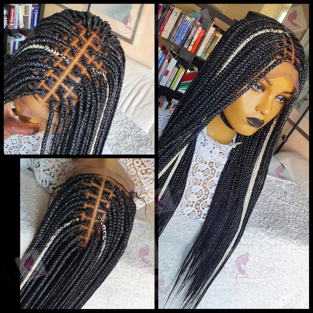 Knotless Braids Full Frontal Braided Wig 28inches