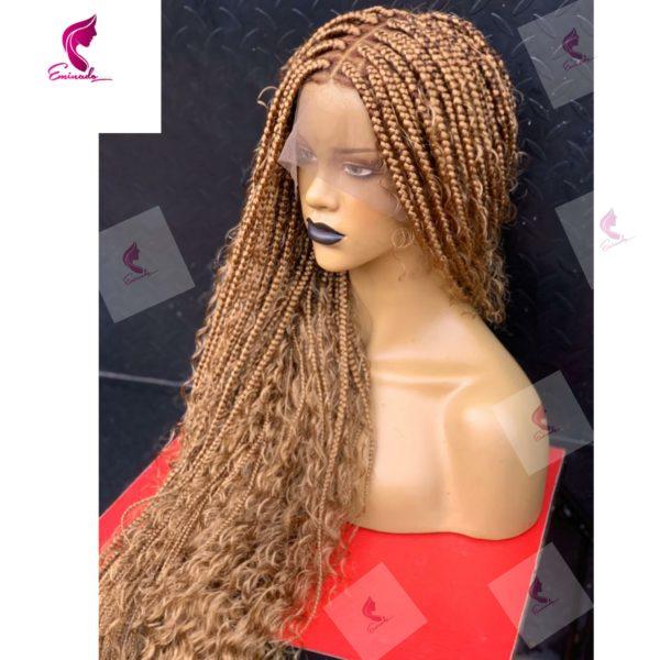 Boho Idi Box Braids Colour 27, bleached roots
