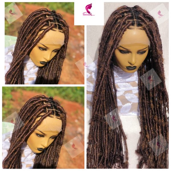 Chunky locs, Full lace Braided Wig 40inches