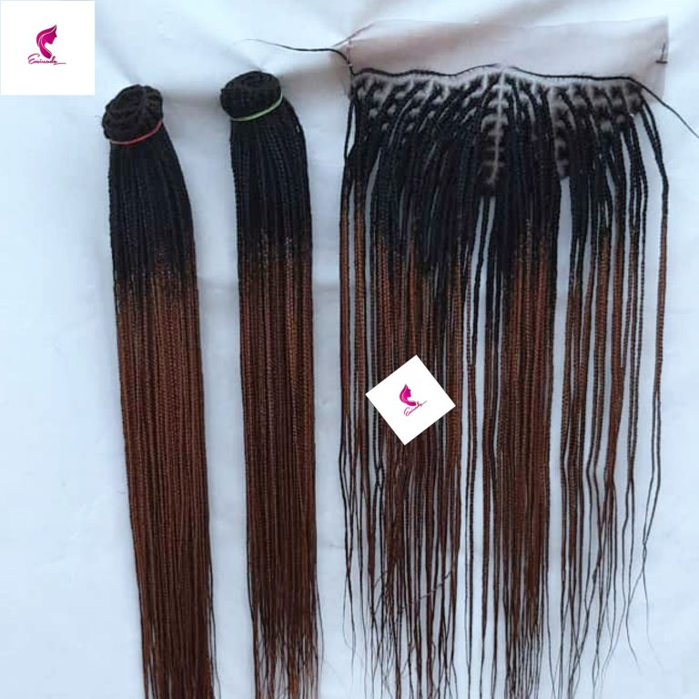 Knotless braids on tracks, full frontal