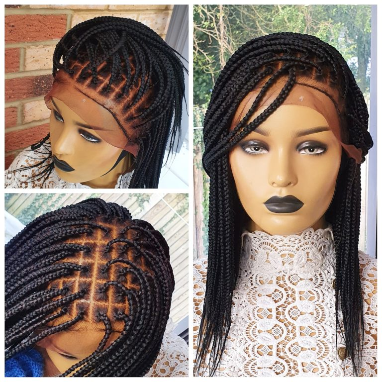 Knotless Box Braids Full Frontal,  14inches lenght