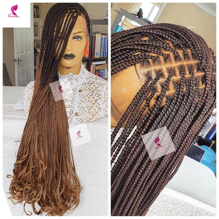 Knotless braids, Curly ends, Ombre 33/27